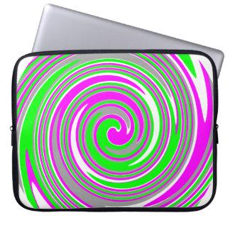 Housse Pour Ordinateur Portable Motif coloré de remous