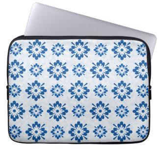 Housse Pour Ordinateur Portable Motif floral bleu