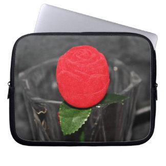 Housse Pour Ordinateur Portable Pochette en néoprène ordinateur port Rose Rouge