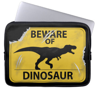 Housse Pour Ordinateur Portable Prenez garde du dinosaure (endommagé)