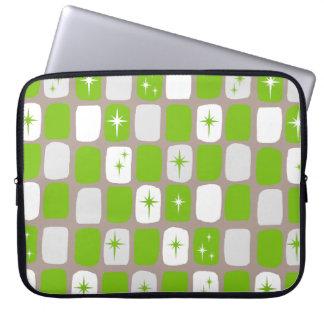 Housse Pour Ordinateur Portable Rétro douille verte et blanche d'ordinateur