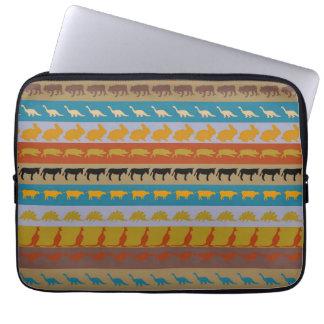 Housse Pour Ordinateur Portable Rétro motif coloré #8 d'animaux