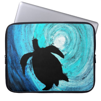 Housse Pour Ordinateur Portable Silhouette de tortue de mer