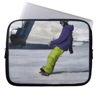 Housse Pour Ordinateur Portable Surfeur finissant une course inclinée