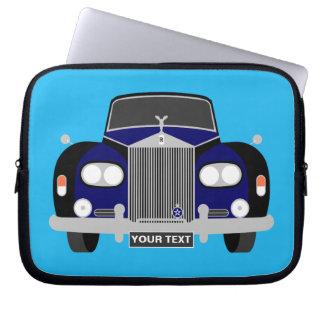 Housse Pour Ordinateur Portable Voiture classique britannique bleue personnalisée