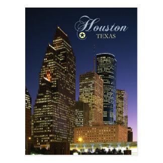 Houston du centre, le Texas la nuit Carte Postale