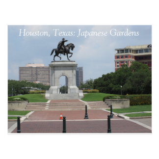 Houston, le Texas : Jardins japonais - carte