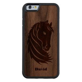 Houten iPhone 6 van het Hoofd van het paard Hoesje
