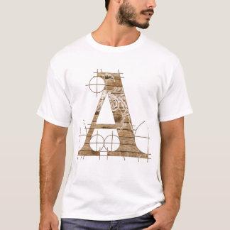 Houten T-shirt Grunge
