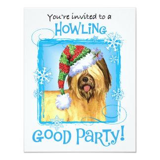 Howlidays heureux Briard Carton D'invitation 10,79 Cm X 13,97 Cm