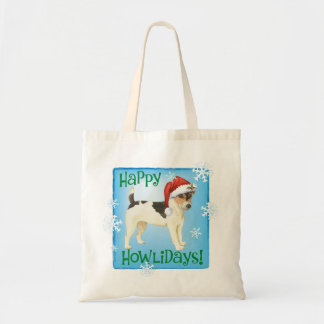 Howlidays heureux Russell Terrier Tote Bag