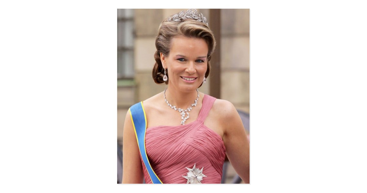Hrh prinses mathilde van belgi briefkaart zazzle - Mathilde ontwerp ...