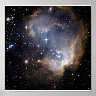 Hubble neemt de Sterren van het Baby in Nabijgeleg Poster