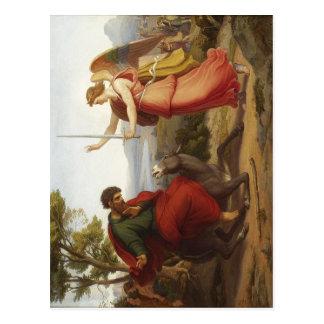 Huilez sur la toile, 50 x 63 que le centre de cm a carte postale