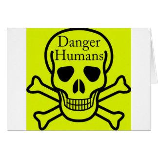 Humains de danger carte de vœux