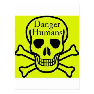 Humains de danger carte postale
