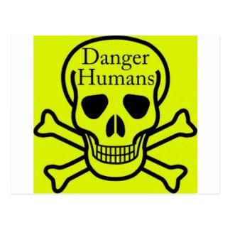Humains de danger cartes postales