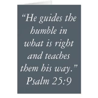 """""""Humiliez"""" les cartes de voeux d'écriture sainte"""