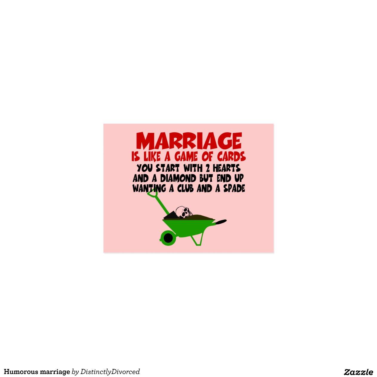 Humoristisch huwelijk wens kaart