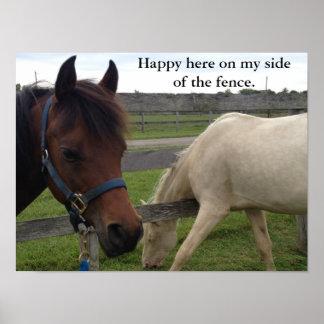 Humour de cheval : Heureux ici de mon côté de la