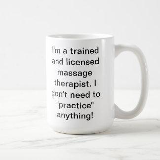 Humour de massage mug blanc