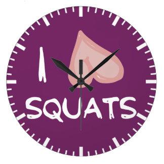 Humour drôle de gymnase de forme physique - grande horloge ronde