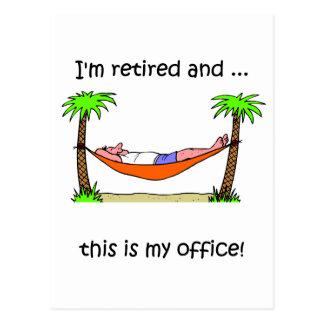 Humour drôle de retraite carte postale