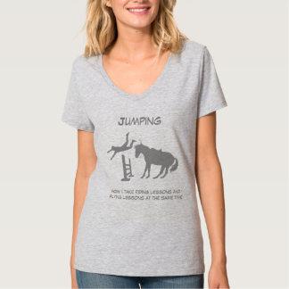 Humour en baisse sautant de vol de cheval drôle t-shirt
