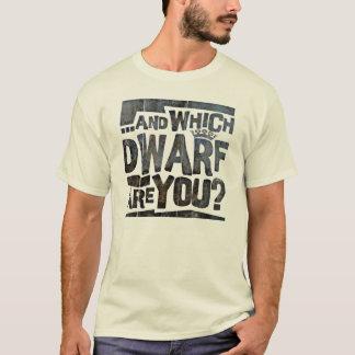 Humour grand et court de personnes t-shirt