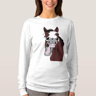 Humour riant de tête de cheval pour des amants de t-shirt