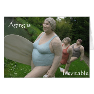 Humour vieillissant de vieillesse de carte
