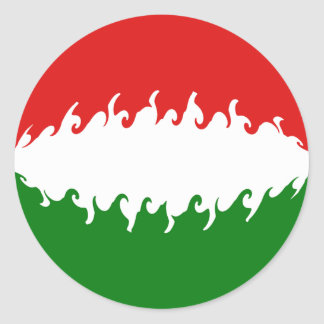 Hungary Gnarly Flag Stickers