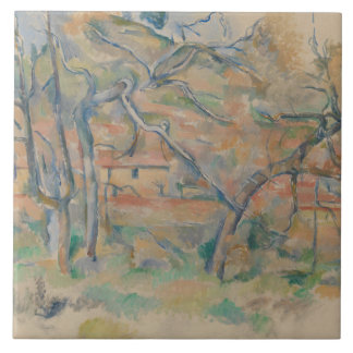 Hus d'og de Paul Cezanne - de Trær, Provence Carreau