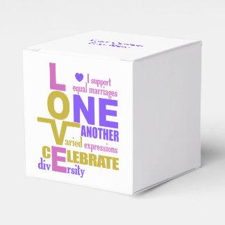 Huwelijk de dozen van de Gelijkheid/Één de Bedankdoosjes