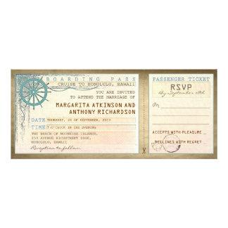 huwelijk die pas-vintage kaartjes met RSVP inschep