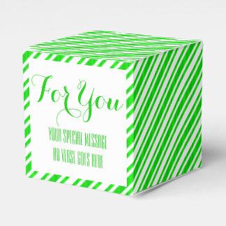 huwelijks groene smaragdgroene witte modern bedankdoosjes