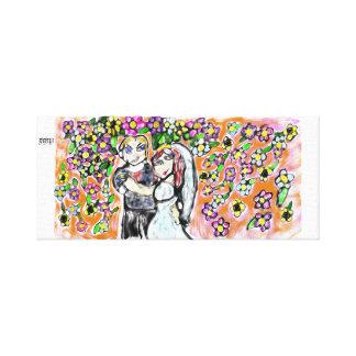 huwelijks kunst 4 canvas afdrukken