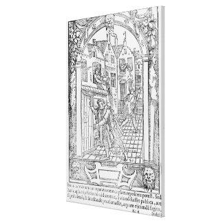 Hygiëne in de Middeleeuwen Canvas Afdrukken