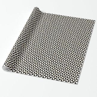 Hypnotique noir et blanc papier cadeau