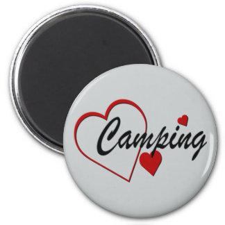 I aimant de camping d'amour de coeur