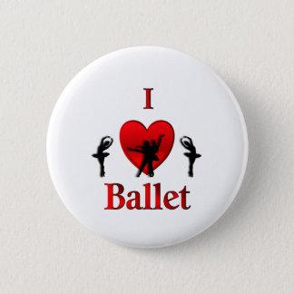 I ballet de coeur badge rond 5 cm