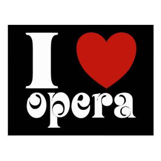 I cadeau d'amants d'opéra de coeur carte postale
