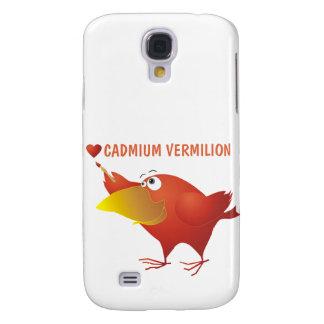 I cadmium Vermilion de coeur Coque Galaxy S4