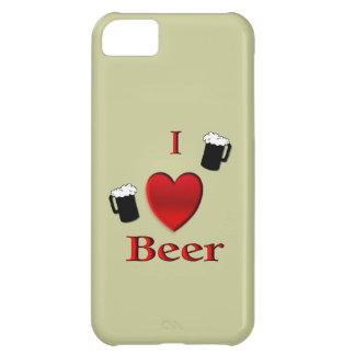 I cas de l'iPhone 5 de bière de coeur Coque iPhone 5C