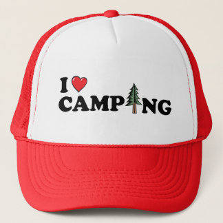 I casquette de pin de camping de coeur