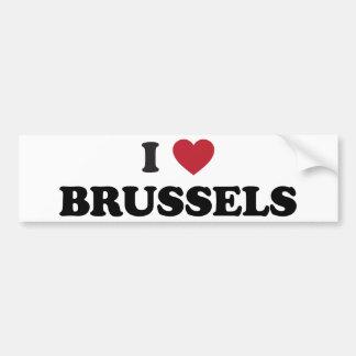 I coeur Bruxelles Belgique Autocollant De Voiture