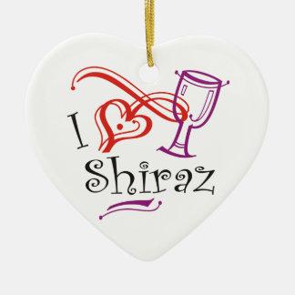 I coeur Chiraz Ornement Cœur En Céramique