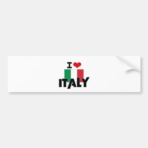 I COEUR ITALIE AUTOCOLLANT POUR VOITURE