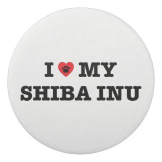 I coeur ma gomme de Shiba Inu