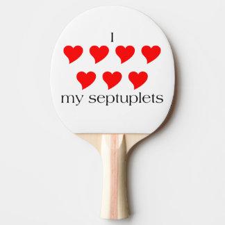 I coeur mes septuplés raquette de ping pong